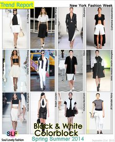 Black & White Colorblock Fashion #Trend for Spring Summer 2014 at New York #Fashion Week #NYFW #Spring2014 #Colors #Trends