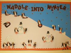 winter bulletin board i did