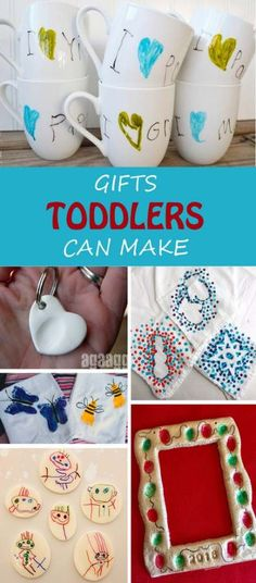 24 Gifts Kids Can Make Gifts toddlers can make this Christmas for grandma, grandfather, teachers or friends. Easy gift ideas for kids to make. & at Non-Toy Gifts The post 24 Gifts Kids Can Make appeared first on Best Pins. Diy Christmas Gifts For Kids, Diy For Kids, Christmas Fun, Christmas Presents, Christmas Crafts For Kids To Make Toddlers, Toddler Holidays, Christmas Gifts To Grandparents, Gift Ideas For Grandparents, Grandparent Gifts