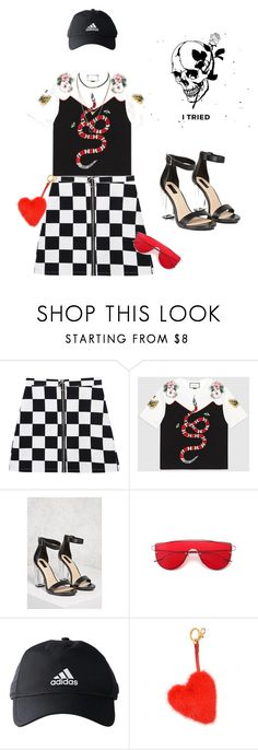 """""""Unapologetic"""" by mani-stylez on Polyvore featuring Gucci, Forever 21, adidas and Anya Hindmarch"""