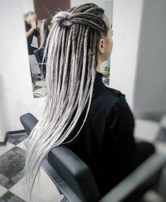 Blond Ombre, Balayage Brunette, Balayage Hair, Gray Ombre, White Girl Dreads, Dreads Girl, Dreadlock Hairstyles, Braided Hairstyles, Black Hairstyles