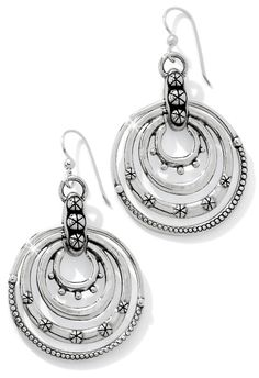 Our Destiny Rings French Wire Earrings feature a motif of concentric circles that is as ancient as planet earth! #BrightonCollectibles