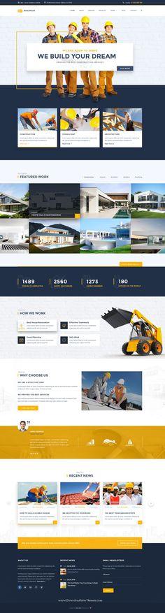 BuildPlus – Building & Construction Business PSD #Template. It includes 17…