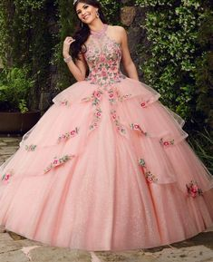 Puffy Prom Dresses, Colorful Prom Dresses, Pretty Quinceanera Dresses, Quince Dresses, Ball Dresses, Pretty Dresses, Ball Gowns Fantasy, Fantasy Dress, Vintage Ball Gowns