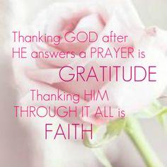 Gratitude and Faith