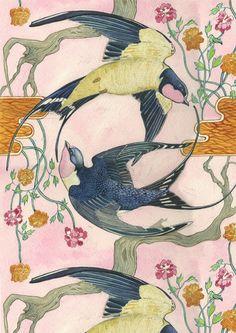 Swallows  -  Card