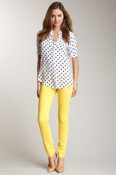 DOMINO Kochi Colored Low Rise Skinny Jean