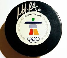 2012 Olympics Official Game Puck Signed By Martin Brodeur PSA/DNA Grade 9 #TeamCanada