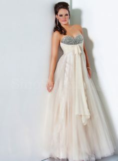Chic A-line Sweetheart Floor Length Tulle Dress