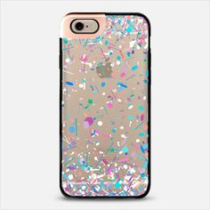 Girly Confetti Explosion Transparent iPhone 6 Metaluxe Case by Organic Saturation | Casetify Get $10 off using code: 53ZPEA