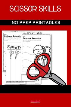 The Scissor Skills packet is perfect for students who need to practice scissors and cutting skills. This NO PREP 50-page Scissor Skills Packet will help students to build fine motor skills.  Scissor pages include shapes, the alphabet, basic cutting lines, and more complex cutting lines. Preschool Curriculum, Preschool Printables, Preschool Worksheets, Preschool Learning, Printable Worksheets, Kindergarten, Homeschool, Teaching, Scissor Practice