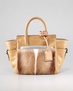 V1K9Y Reed Krakoff Atlantique Mini Fur Leather Tote Bag, Spring Reed  Krakoff, Luxury 1b324a64ca