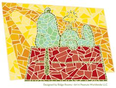 Snoopy! .... Mosiac :) now I have figured out what is going to be the mosaic on my $1 table!!!