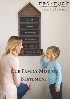 Create a family mission statement that your family can commit to living by during the year! Use our pre-printed slats or chalk up your own to form a statement that is JUST RIGHT for your family. #MakeTogetherHappen