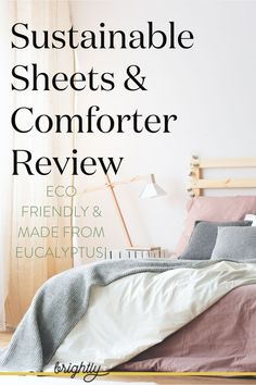 Everyone uses bed sheets, so why not try an eco friendly and sustainably made version? See our scout reviews on these soft and ethical sheets and comforters made from eucalyptus by brand Sheets & Giggles! Read at brightly.eco  #sheets #bedding #sustainableliving #ecofriendlyliving Sustainable Furniture, Sustainable Living, Sheets Bedding, Bed Reviews, Recycled Furniture, Zero Waste, Sustainability, Comforters, Eco Friendly