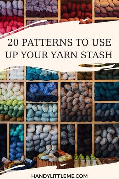 Patterns to use up your yarn stash. Stash bust your leftover yarns with one of these patterns. Small Knitting Projects, Yarn Projects, Knitting Designs, Knitting Patterns Free, Crochet Projects, Cowl Patterns, Knitting Tutorials, Loom Knitting, Free Knitting