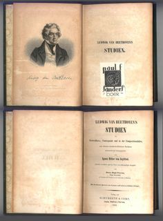 "Beethoven One of the First Studies Ever Written. ""Ludwig van Beethoven Studien"" by Ignaz Ritter von Seyfried. The 1853 Second Edition. With the book plate of a renowned musicologist, who was also a hero of the Second World War. For sale  by ProfessorBooknoodle, $224.50"