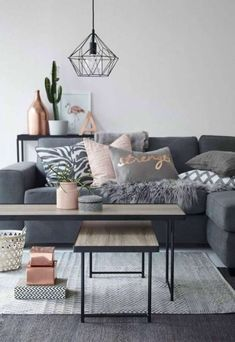 New living room grey blush interior design ideas Living Room Decor Set, Living Room Paint, Living Room Colors, Living Room Grey, Living Room Modern, Home Living Room, Apartment Living, Living Room Furniture, Living Room Designs