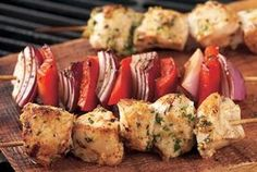 Great Garlic-Lemon Chicken Kabobs for a summer BBQ!