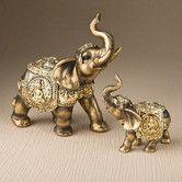 Found it at Wayfair - Elephant 2 Piece Figurine Set