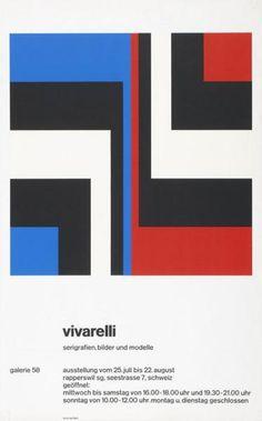 Carlo Vivarelli- Serigrafien, Bilder und Modelle - Galerie 58-Plakat