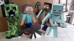 Totens do Minecraft !! Personalize sua festa !! Minecraft, Totems, Personalized Stationery