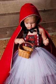 LIttle Red Riding Hood Tutu Dress Halloween Costume. $65.00, via Etsy.