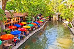 20 amazing things to see in Texas:    San Antonio River Walk:   Originally built to combat floods, the 2.5‐mile walkway along the San Antonio River runs one story below the San Antonio streets. Open year‐round, the River Walk hosts special events such as parades, artisan shows and festivals. Visitors can indulge in the best of food and drink, shop, and explore during a leisurely walk.