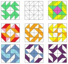 Sampler Quilts, Star Quilts, Mini Quilts, Quilting Tutorials, Quilting Projects, Quilting Designs, Motifs Granny Square, Half Square Triangle Quilts, Patch Quilt