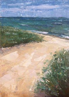 """Dune Path by maggie capettini Oil ~ 7"""" x 5"""""""