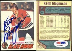 Keith Magnuson Chicago Black Hawks Signed 1977-1978 O-Pee-Chee Card # 89 PSA COA . $50.00. Chicago Black Hawks DefenseKeith MagnusonHand Signed 1977 - 1978 O-Pee-Chee Card# 89.GREAT AUTHENTIC HOCKEY COLLECTIBLE!!AUTOGRAPH AUTHENTICATED BY PSA AUTHENTICATIONS WITH NUMBERED PSA AUTHENTICATION STICKER ON ITEM AND MATCHING NUMBERED CERTIFICATE OF AUTHENTICITY (COA) INCLUDED.PSA DNA COA: # Q 32141ITEM PICTURED IS ACTUAL ITEM BUYER WILL RECEIVE.
