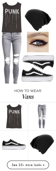 """punk"" by anjalenabvb on Polyvore featuring AMIRI, R13 and Vans"