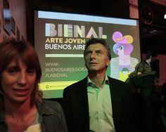 Inauguramos junto con María Eugenia Vidal la Bienal de Arte Joven Buenos Aires.