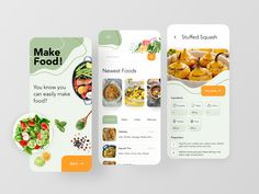 Foodway App by Zinat Farahani for RonDesignLab on Dribbble Website Design Layout, Website Design Inspiration, Web Design Inspiration, Mobile Ui Design, App Ui Design, Interface Design, Web Design Agency, Make Design, Business Website