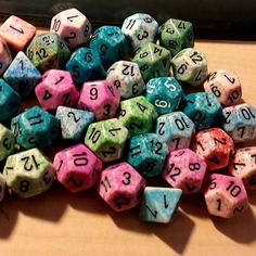 Weird speckled #dice but not from pound of dice special sets. by thebeastlypoet http://ift.tt/1Xcdib0