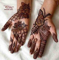 Rose Mehndi Designs, Mehndi Designs For Girls, Mehndi Designs For Beginners, Unique Mehndi Designs, Wedding Mehndi Designs, Mehndi Designs For Fingers, Beautiful Henna Designs, Dulhan Mehndi Designs, Latest Mehndi Designs