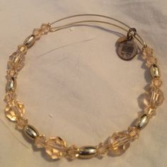 Alex + Ani one of a kind swarovski bangle Alex + Ani and swarovski blush pink and gold expandable bangle. All handmade from recycled materials therefore no two look exactly alike (+) Alex & Ani Jewelry Bracelets