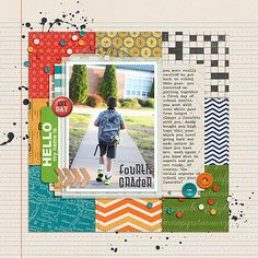 Start Your Scrapbook Layout with a Block Foundation | Celeste Smith | Get It Scrapped