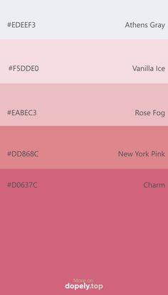 Hex Color Palette, Color Palate, Pantone Colour Palettes, Pantone Color, Pink Hex Code, Hex Color Codes, Hex Codes, Color Palette Challenge, Colour Board