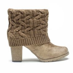 MUK LUKS Chris Women's Sweater Cuff Ankle Boots, Girl's, Size: 9 ()