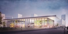 Concept for Aviapolis museum in Vantaa, Finland by helsinkizurich, exterior visualisation by obra Finland, Aviation, Museum, Exterior, Concept, Architecture, Outdoor Decor, Home Decor, Arquitetura