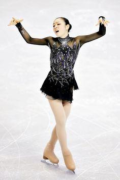 Yuna Kim, Black Figure Skating / Ice Skating dress inspiration for Sk8 Gr8 Designs.