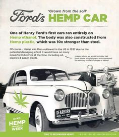 Ford's Hemp Car, saved to this board as it (hemp) is a big part of a way forward for environmental reasons