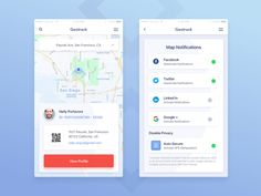 Map Screen Design of Geolocation Based Mobile App