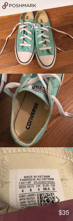 Converse Chuck Taylors Tiffany blue women's converse. Brand new. Never worn. No box. Size women's 6 Converse Shoes Sneakers