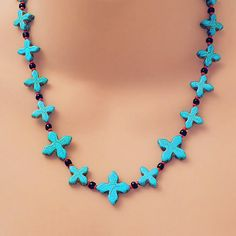 • TURQUOISE MINI CROSSES • VISIT MY 'One Of A Kind' GIFT & JEWELRY GALLERY •  http://www.etsy.com/shop/TonyArmato