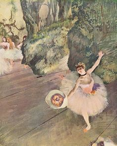 Dancer taking a bow (The Star), Edgar Degas.        Pastel and gouache on paper.        81 x 66 cm.        1878