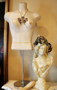 Antique Display Store Mannequin Dress Form