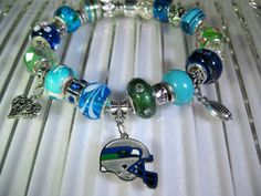 Seattle Seahawks European Style Bracelet