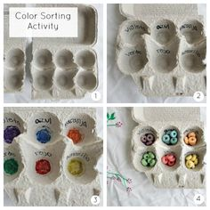 Busy Bag Color Sorting Activity in Spanish using Froot Loops® Spanish Activities, Sorting Activities, Educational Activities, Toddler Bag, Preschool, Kindergarten Math, Busy Bags, Toddler Crafts, Rainbow Colors